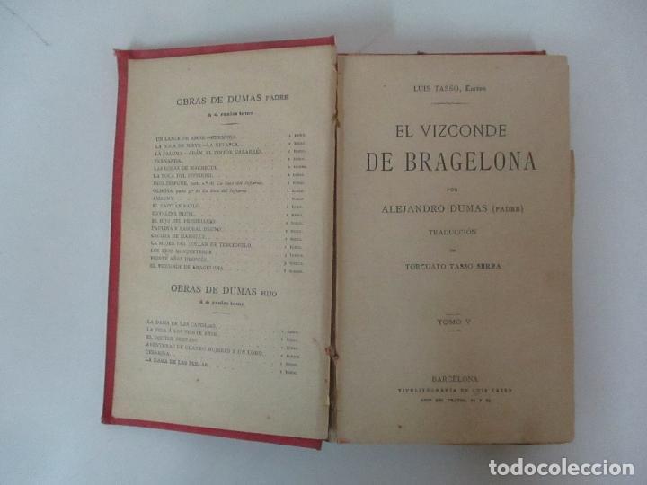 Libros antiguos: El Vizconde de Bracelona - A. Dumas - 6 Tomos - Completa - Foto 25 - 127436911