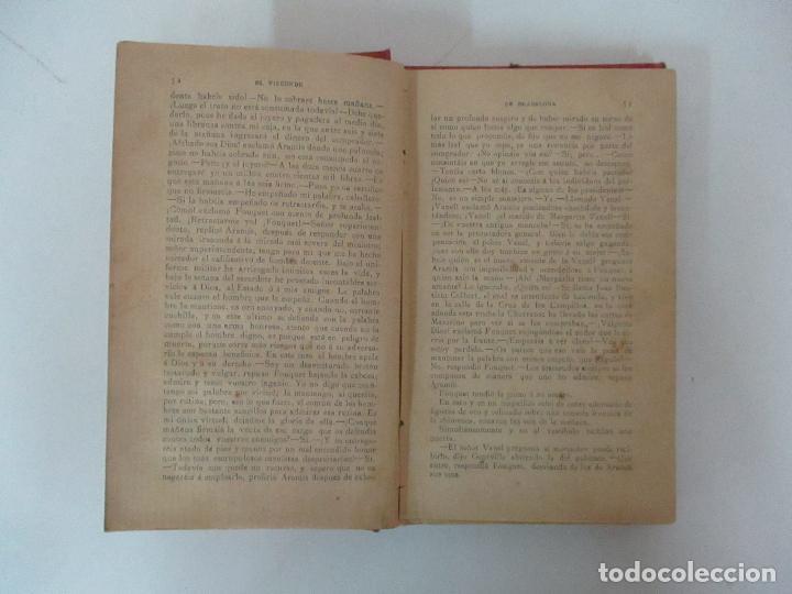 Libros antiguos: El Vizconde de Bracelona - A. Dumas - 6 Tomos - Completa - Foto 26 - 127436911