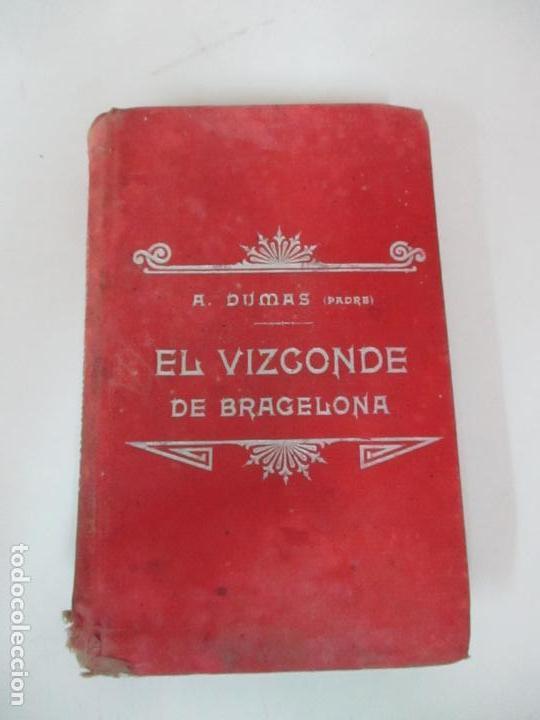 Libros antiguos: El Vizconde de Bracelona - A. Dumas - 6 Tomos - Completa - Foto 29 - 127436911