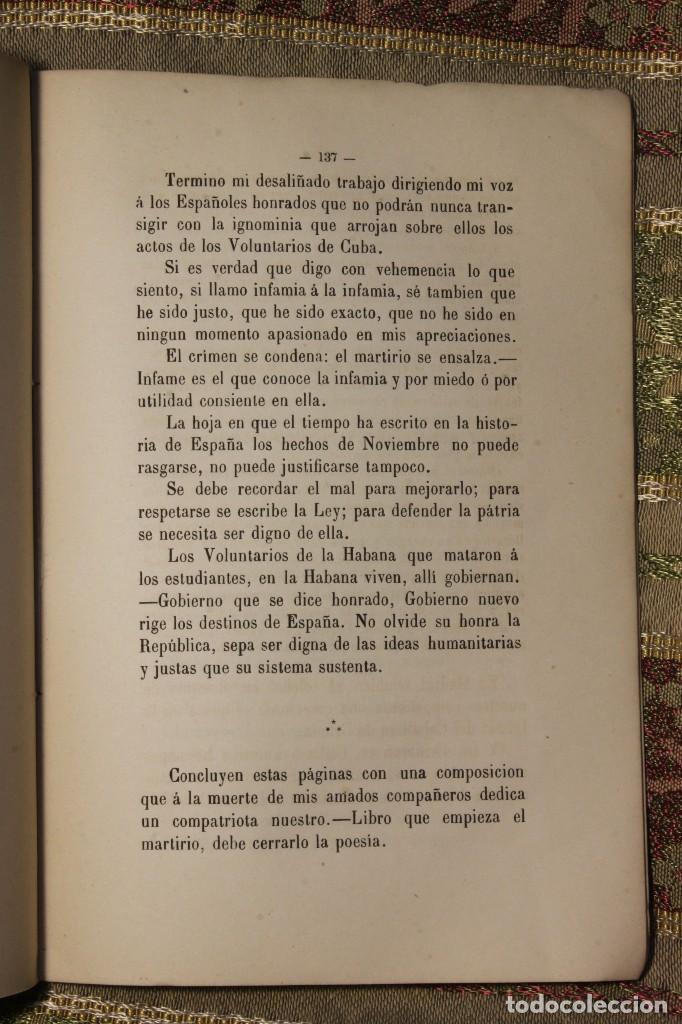 Libros antiguos: Voluntarios de la Habana • Estudiantes Medicina 1871 Fermín Valdés • José Martí - Foto 5 - 128461055
