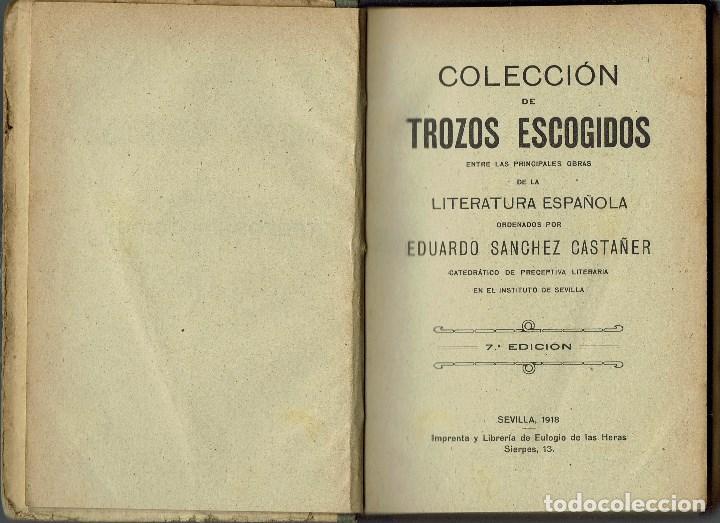 HISTORIA GENERAL DE LA LITERATURA, POR JOSÉ ROGERIO SÁNCHEZ. AÑO 1912. (6.5) (Libros antiguos (hasta 1936), raros y curiosos - Literatura - Ensayo)