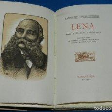 Libros antiguos: (MF) CARLES BOSCH DE LA TRINXERIA - LENA NOVELA CATALANA MONTANYESA , BOXOS ORIGINALS OLLE PINELL. Lote 131781054