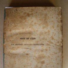 Libros antiguos: ARTE DE LEER LOS IMPRESOS ANTIGUOS CASTELLANOS. FELIPE MORIANO. 1861. Lote 133026106