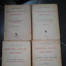 Libros antiguos: LITERATURA DEL SIGLO XX Y CRISTIANISMO, CHARLES MOELLER, GREDOS, 1960. Lote 133479242