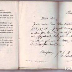 Libros antiguos: MIRECOURT, EUGÈNE DE: PROUDHON. LES CONTEMPORAINS. PARIS, GUSTAVE HAVARD 1858.. Lote 133854506