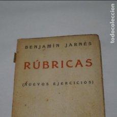 Libros antiguos: RÚBRICAS. BENJAMIN JARNES. 1931. Lote 134406586