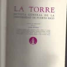 Libros antiguos: HOMENAJE A JOSE ORTEGA Y GASSET. LA TORRE 1956. Lote 134992382