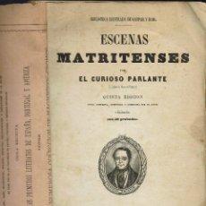 Libros antiguos: ESCENAS MATRITENSES, POR RAMÓN DE MESONERO ROMANOS. AÑO 1851. (11.8). Lote 139209706
