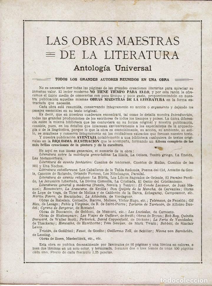 Libros antiguos: LAS OBRAS MAESTRAS DE LA LITERATURA. ANTOLOGÍA UNIVERSAL,DE GUILLERMO DE BOLADERES.TOMOII.192?(11.8) - Foto 7 - 140124878