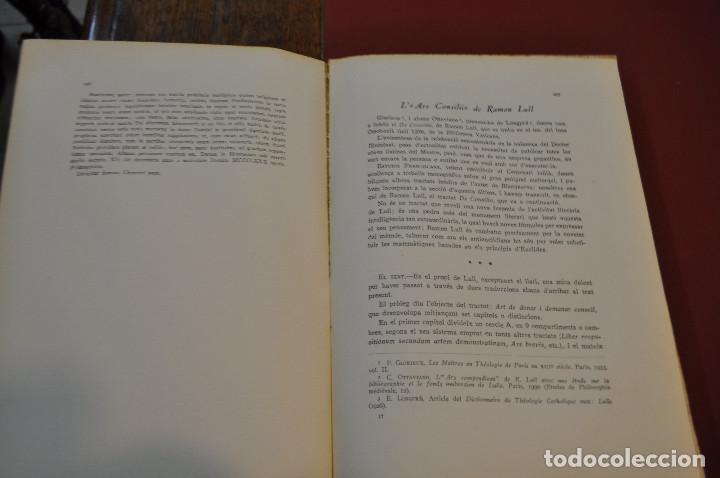 Libros antiguos: MISCEL·LÀNIA LUL·LIANA - HOMENATGE AL B. RAMON LULL (LLULL) ACLM - Foto 6 - 145112738