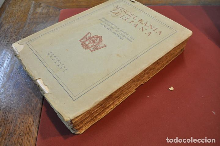 Libros antiguos: MISCEL·LÀNIA LUL·LIANA - HOMENATGE AL B. RAMON LULL (LLULL) ACLM - Foto 8 - 145112738