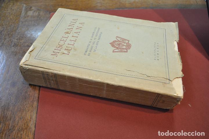 Libros antiguos: MISCEL·LÀNIA LUL·LIANA - HOMENATGE AL B. RAMON LULL (LLULL) ACLM - Foto 9 - 145112738