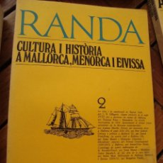 Libros antiguos: CULTURA I HISTÒRIA A MALLORCA, MENORCA I EIVISSA. REVISTA RANDA Nº 2. MALLORCA / BARCELONA, 1976. Lote 146398730