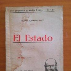 Libros antiguos: EL ESTADO. PEDRO KROPOTKINE. Lote 147454006