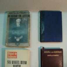 Libros antiguos: MIGUEL UNAMUNO - 4 LIBROS. Lote 76889639