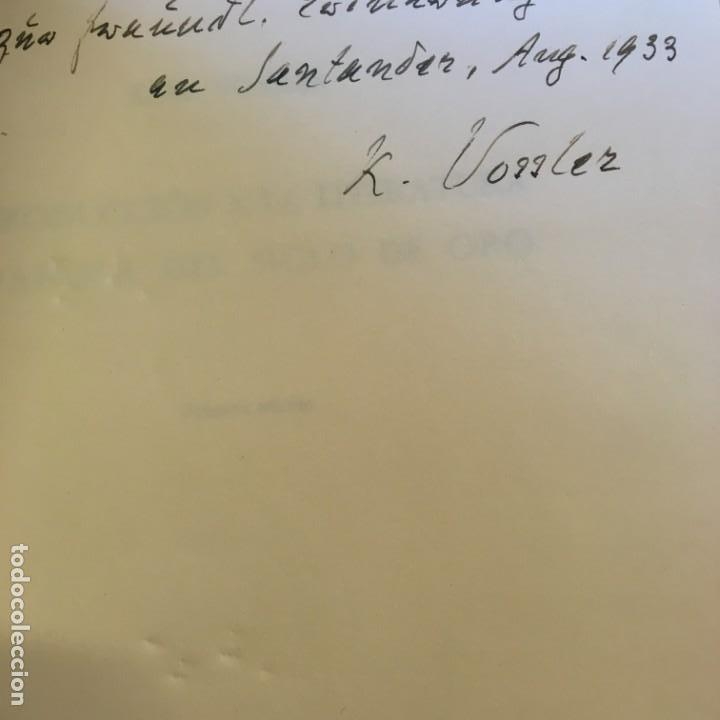 Libros antiguos: Karl Vossler. Introducción a la literatura española del Siglo de oro. Cruz y Raya, 1934. Dedicatoria - Foto 2 - 149807386