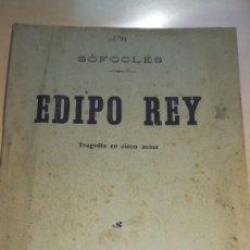 Libros antiguos: SOFOCLES. EDIPO REY. TRAGEDIA EN CINCO ACTOS. 1915. Lote 153338750
