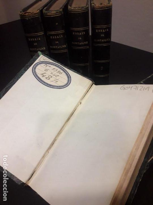 Libros antiguos: Edición francesa (1818) de los Ensayos de Michel de Montaigne - 6 tomos - Foto 2 - 160023638