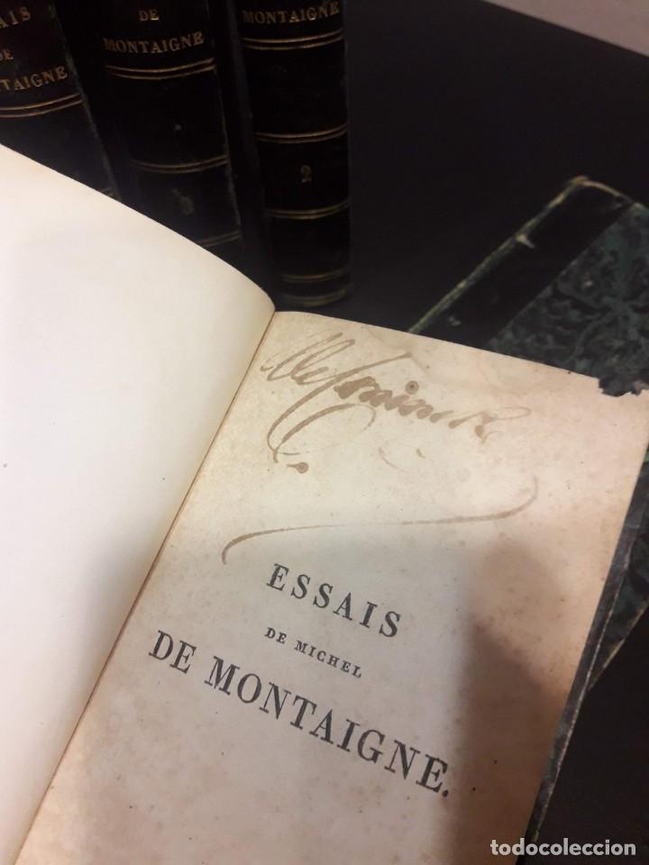 Libros antiguos: Edición francesa (1818) de los Ensayos de Michel de Montaigne - 6 tomos - Foto 3 - 160023638