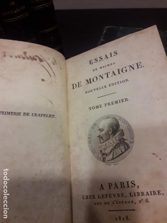 Libros antiguos: Edición francesa (1818) de los Ensayos de Michel de Montaigne - 6 tomos - Foto 4 - 160023638