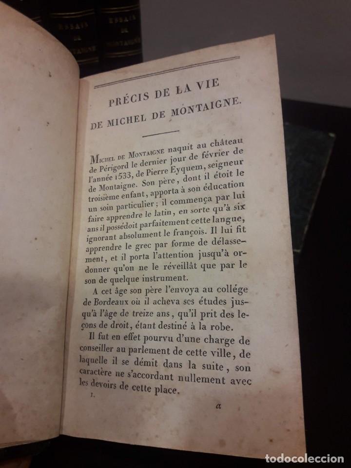 Libros antiguos: Edición francesa (1818) de los Ensayos de Michel de Montaigne - 6 tomos - Foto 5 - 160023638