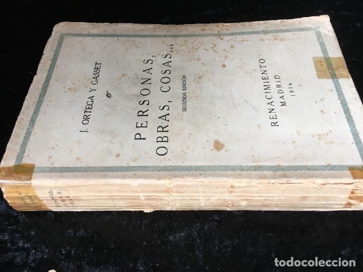 Libros antiguos: PERSONAS , OBRAS , COSAS - JOSE ORTEGA Y GASSET - Renacimiento - 1916 - Foto 3 - 161467030