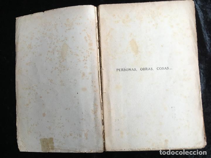 Libros antiguos: PERSONAS , OBRAS , COSAS - JOSE ORTEGA Y GASSET - Renacimiento - 1916 - Foto 5 - 161467030