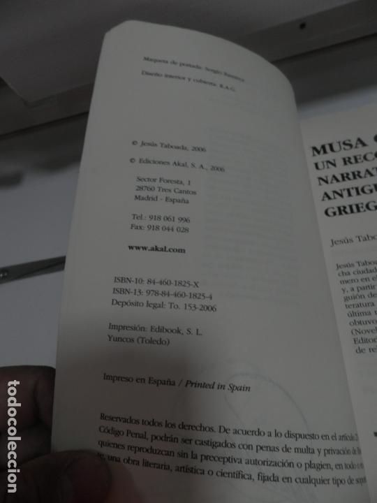 Libros antiguos: MUSA CELESTE I , JESUS TABOADA 2006 - AKAL LITERATURAS.NARRATIVA ANTIGUOS MITOS GRIEGOS . - Foto 5 - 165415474