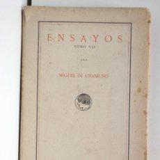 Libros antiguos: ENSAYOS TOMO VII – MIGUEL DE UNAMUNO – INTONSO – PUBLICA.RESIDENCIA DE ESTUDIANTES. Lote 168002500