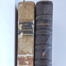 Libros antiguos: MEMORANDUM ANUAL PERPETUO – TOMO I Y TOMO 2 – JOAQUIN BASTÚS. Lote 168001752