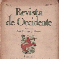 Libros antiguos: REVISTA DE OCCIDENTE. PRIMERA ÉPOCA. Nº V (NOVIEMBRE 1923). D'ORS. BENJAMÍN PALENCIA. Lote 170253308