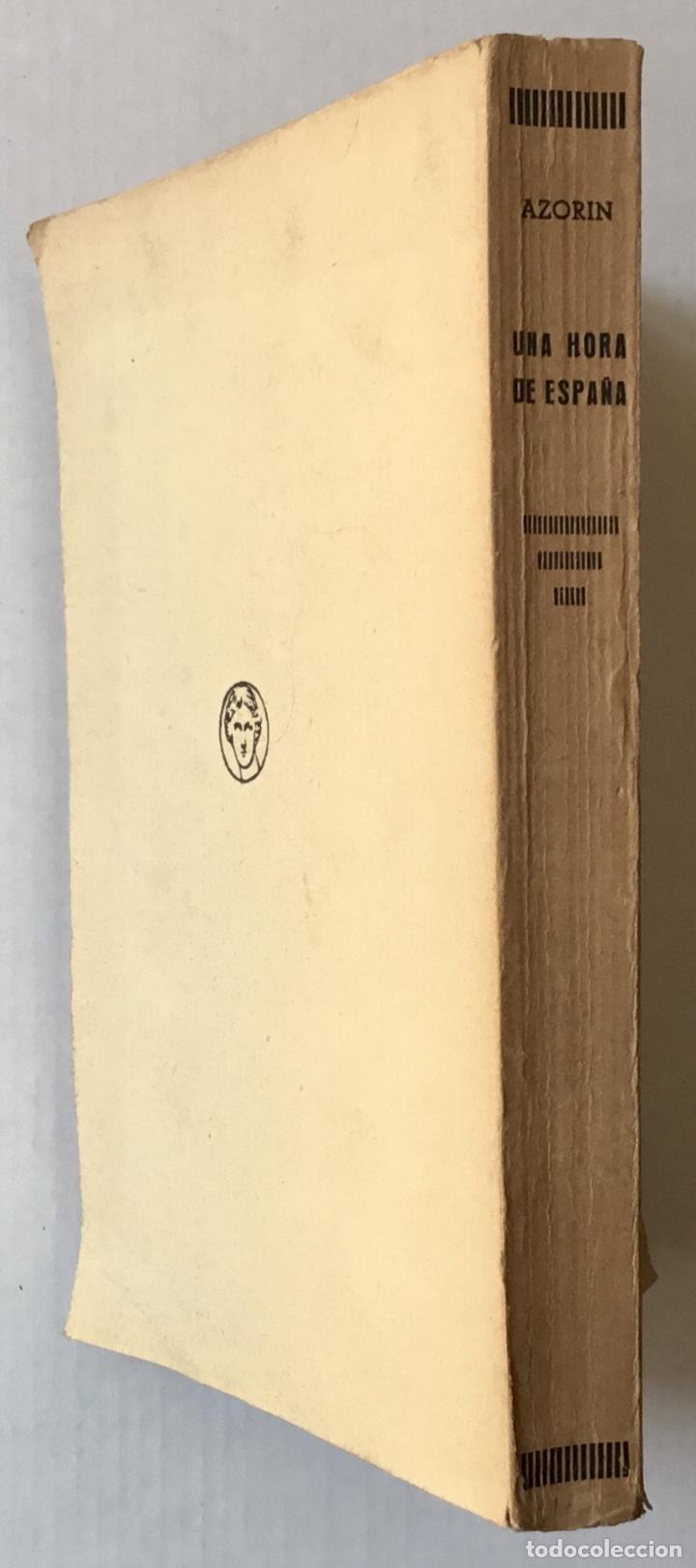 Libros antiguos: UNA HORA DE ESPAÑA. (ENTRE 1560 Y 1590). - AZORÍN. [José Martínez Ruiz]. - Madrid, 1939. - Foto 5 - 172083027
