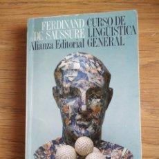 Libros antiguos: FERDINAND DE SAUSSURE - CURSO DE LINGÜÍSTICA GENERAL. Lote 172671399