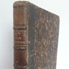 Libros antiguos: JUICIOS LITERARIOS Y ARTÍSTICOS. 1ª EDICIÓN, 1883. ALARCÓN.. Lote 175350335