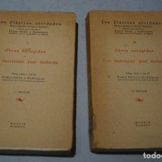 Libros antiguos: OBRAS ESCOGIDAS DE DON BARTOLOME JOSÉ GALLARDO (LOS CLASICOS OLVIDADOS). 1928. Lote 176077745