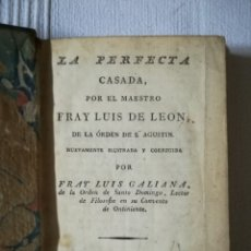 Libros antiguos: LA PERFECTA CASADA 1819. Lote 176380449