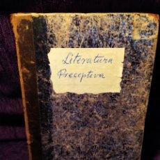 Libros antiguos: LITERATURA PRECEPTIVA. Lote 176394135