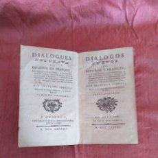 Libros antiguos: DIÁLOGOS NUEVOS EN ESPAÑA Y FRANCÉS.POR FRANCISCO SOBRINO. 1778.. Lote 177295972