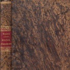 Libros antiguos: JUAN VALERA. DISERTACIONES Y JUICIOS LITERARIOS. MADRID, PEROJO, 1878. . Lote 178255400