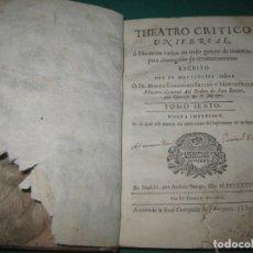 Libros antiguos: THEATRO CRITICO UNIVERSAL TOMO SEXTO. GERONIMO FEYJOO Y MONTENEGRO. ANDRES ORTEGA 1778.. Lote 179924868