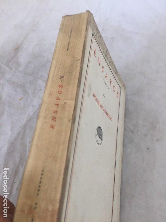 Libros antiguos: Miguel de Unamuno Ensayos tomo V residencia de estudiantes buen estado 1ª edición 1917 - Foto 3 - 181433561