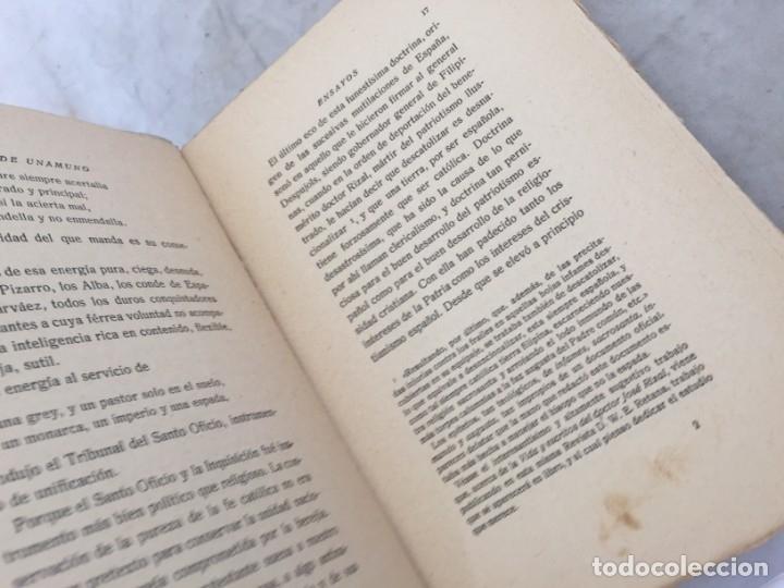 Libros antiguos: Miguel de Unamuno Ensayos tomo VII residencia de estudiantes buen estado 1ª edición 1918 - Foto 5 - 181433633