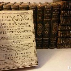 Libros antiguos: 1729 - ILUSTRACIÓN ESPAÑOLA - FEIJOO TEATRO CRÍTICO, CARTAS, ETC - 27 OBRAS, COMPLETISIMA COLECCION. Lote 181730127