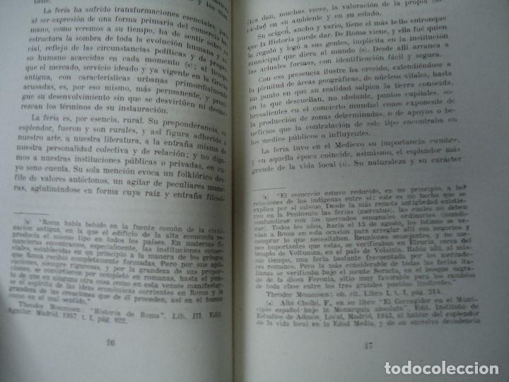 Libros antiguos: LA FERIA RURAL O COMARCANA Y LA INSTITUCION MUNICIPAL EN GALICIA 1960 TEODORO SANDOMINGO - Foto 4 - 218141911