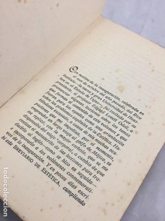 Libros antiguos: BREVIARIO DE ESTETICA BENEDETTO CROCE MUNDO LATINO EX LIBRIS RUFINO AGUIRRE IBAÑEZ - Foto 6 - 184398151