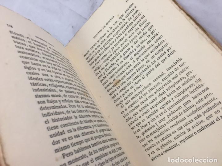 Libros antiguos: BREVIARIO DE ESTETICA BENEDETTO CROCE MUNDO LATINO EX LIBRIS RUFINO AGUIRRE IBAÑEZ - Foto 7 - 184398151
