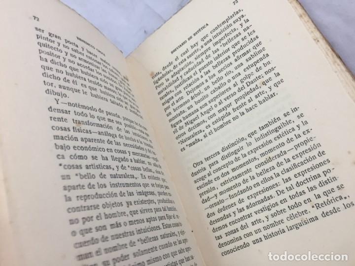 Libros antiguos: BREVIARIO DE ESTETICA BENEDETTO CROCE MUNDO LATINO EX LIBRIS RUFINO AGUIRRE IBAÑEZ - Foto 9 - 184398151