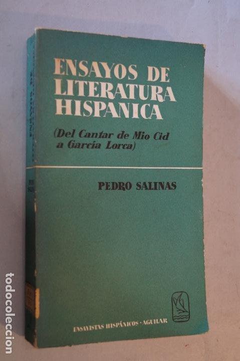 ENSAYO DE LITERATURA HISPANICA. PEDRO SALINAS (Libros antiguos (hasta 1936), raros y curiosos - Literatura - Ensayo)