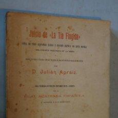 Livros antigos: JUICIO DE LA TIA FINGIDA. JULIAN APRÁIZ. 1906. Lote 184596850