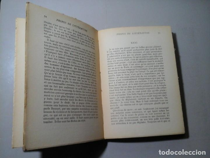 Libros antiguos: ALAIN. PROPOS DE LITTÉRATURE. 1ª EDICIÓN 1934. PAUL HARTMANN EDITEUR. ENSAYO. VANGUARDIAS. - Foto 3 - 186319768